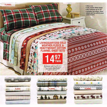 LivingQuarters Cold Weather Heavyweight Cotton Flannel Queen Sheet Sets FROM  $24.97