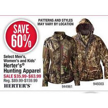 Herters Kids Hunting Apparel 60% OFF