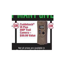 Chance to Win Cuddeback IR Plus 8MP Trail Camera First 600 Customers