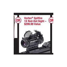 Chance to Win Vortex Spitfire 1X Red-dot Sight First 600 Customers