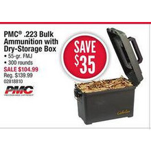 PMC .223 Bulk Ammunition w/ Dry Box Per 300
