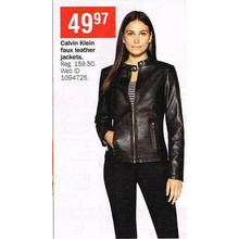 Calvin Klein Faux Leather Jackets
