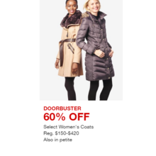 Select Women's Coats - 60% Off