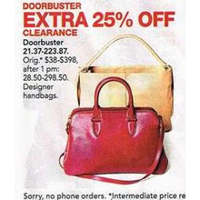 Clearance Designer Handbags - EXTRA 25% OFF
