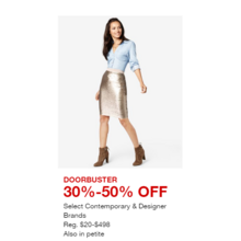 Select Contemporary & Designer Brands - 30%-50% OFF