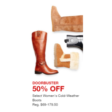 Select Women's Cold-Weather Boots - 50% Off