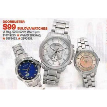 Select Bulova Watches