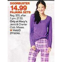 Jenni by Jennifer Moore Pajama Sets