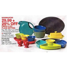 Fiesta 4-Pc. Place Setting - Extra 25% Off