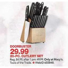Tools of the trade 20-Pc. Cutlery Set