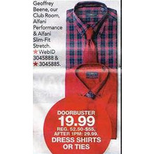 Club Room Alfani Performance Dress Shirts w/ Tie