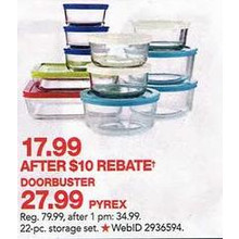 Pyrex 22-pc. Food Storage Container Set