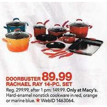 Rachael Ray Red 14-pc. Nonstick Cookware Set