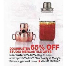 Studio Mercantile 4-pc. Mini Moscow Mule Shot Glasses 65% OFF