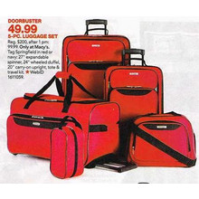 Tag Springfield III  5-pc. Red Luggage Set