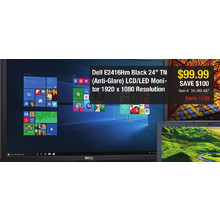 "Dell E2416Hm Black 24"" TN (Anti-Glare) LCD/LED Monitor 1920 x 1080 Resolution - Save $100"