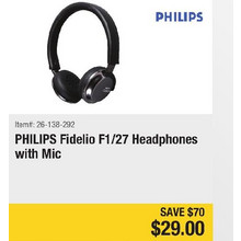 PHILIPS Fidelio F1/27 Headphones with Mic -$70