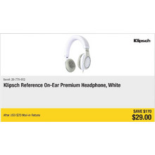 Klipsch Reference On-Ear Premium Headphones, White - $170