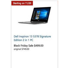 Dell Inspiron 13 5378 Signature Edition 2 in 1 pc