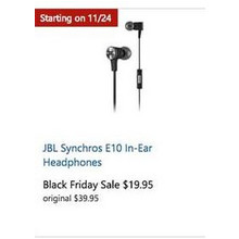 JBL Synchros E10 In-Ear Headphones