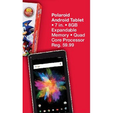 "Polaroid 7"" Android Tablet, Quad Core CPU, 8GB 50% OFF"