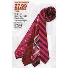Selected Designer Ties $27.99