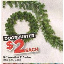 18'' Wreath & 9'Garland