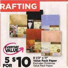 "8 1/2"" x 11"" Value Pack Paper - 5 for $10"