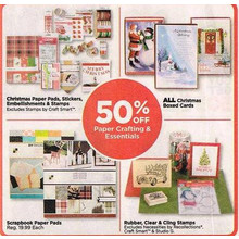 Christmas Paper Pads, Stickers, Embellishments & Stamps - 50% OFF