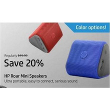 HP Roar Mini Speakers - Save 20%