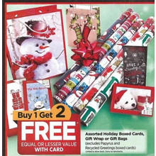 Assorted Holiday Boxed Cards Gift Wrap or Gift Box - Buy 1 Get 2 Free Equal or Lesse Value with Card