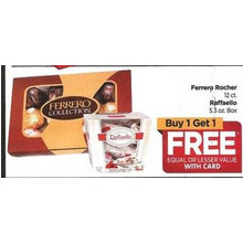 Ferrero Rocher 12.ct Raffaello 5.3 oz. Box - Buy 1 Get 2 Free Equal or Lesse Value with Card