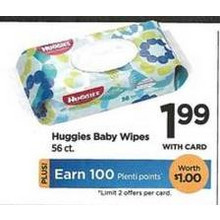 Huggies Baby Wipes 56 ct.