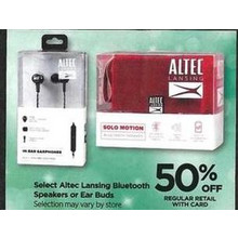 Altec Lansing Ear Buds - Save 50% Off