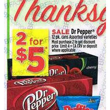 Dr Pepper 12 Pk. - 2 for $5