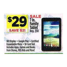 7 in. Family Tablet - Save $21