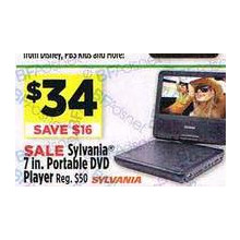 Sylvania 7 in. Portable DVD Player - Save $16