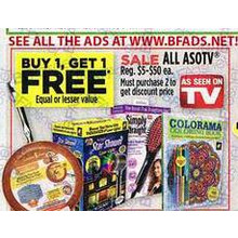 ALL ASOTV - BUY 1, GET 1 FREE