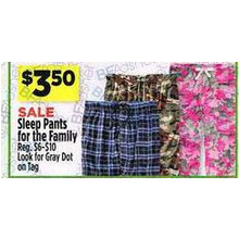Sleep Pants for the Family