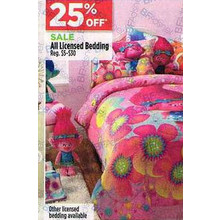 All Licensed Bedding - 25% OFF