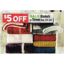 Blankets or Throw - $5 OFF