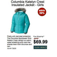 Columbia Katelyn Crest Insulated Jacket (Girl's) - Save 39%