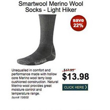 Smartwool Merino Wool Socks Light Hiker - Save 22%