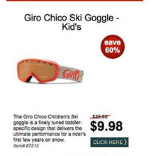 Giro Chico Ski Goggle (Kid's) - Save 60%