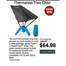 Thermarest Treo Chair - Save 35%