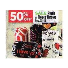 50% OFF Plush or Fleece Throws