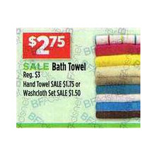 Assorted Bath Towels, Hand Towels & Washcloths