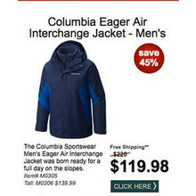 Columbia Men's Eager Air Interchange Jacket - SAVE 45%