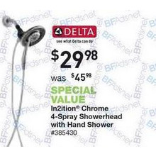 Delta In2ition 6-in. Chrome Showerhead w/ Hand Shower