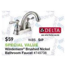 Delta Windemere Brushed Nickel Bathroom Faucet
